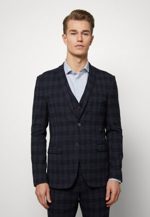 MIDNIGHT TEXTURED CHECK SUIT - Completo - navy