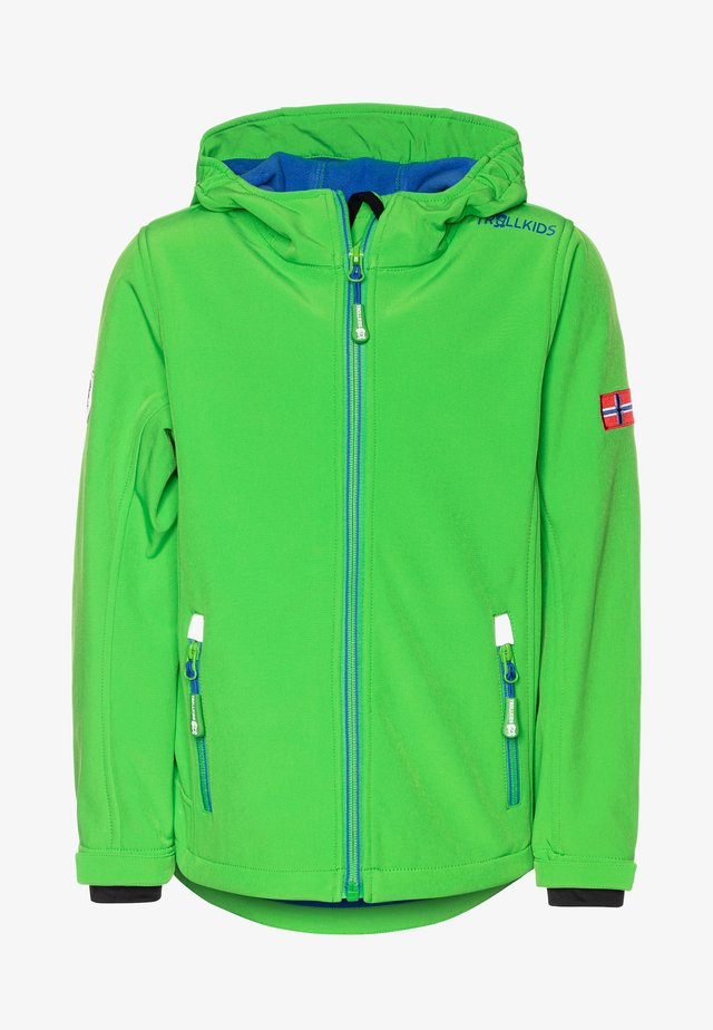 TROLLFJORD UNISEX - Softshelljas - bright green/med blue