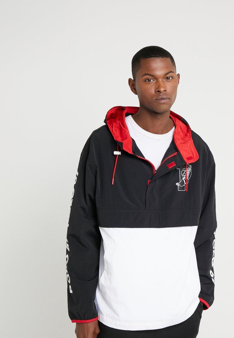 Polo Ralph Lauren - WING HALF ZIP JACKET - Lehká bunda - black/ white