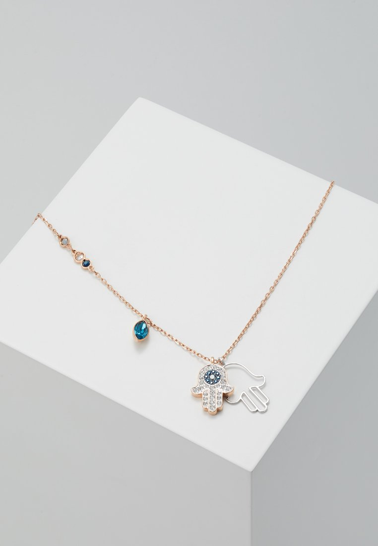 Swarovski - DUO PENDANT HAMSA HAND  - Necklace - rosegold-coloured