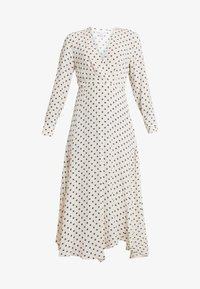 Topshop - EXTURED DOT DRESS - Day dress - cream - 4