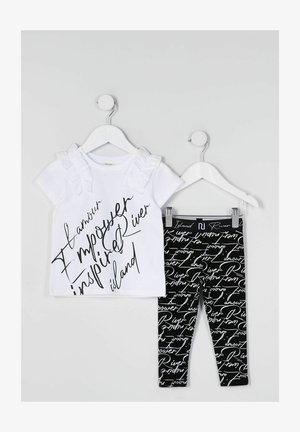 2 PIECE SET - T-shirt print - white