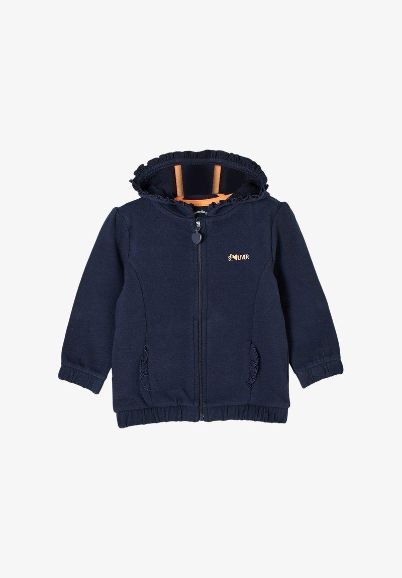s.Oliver - JAS - Zip-up sweatshirt - dark blue