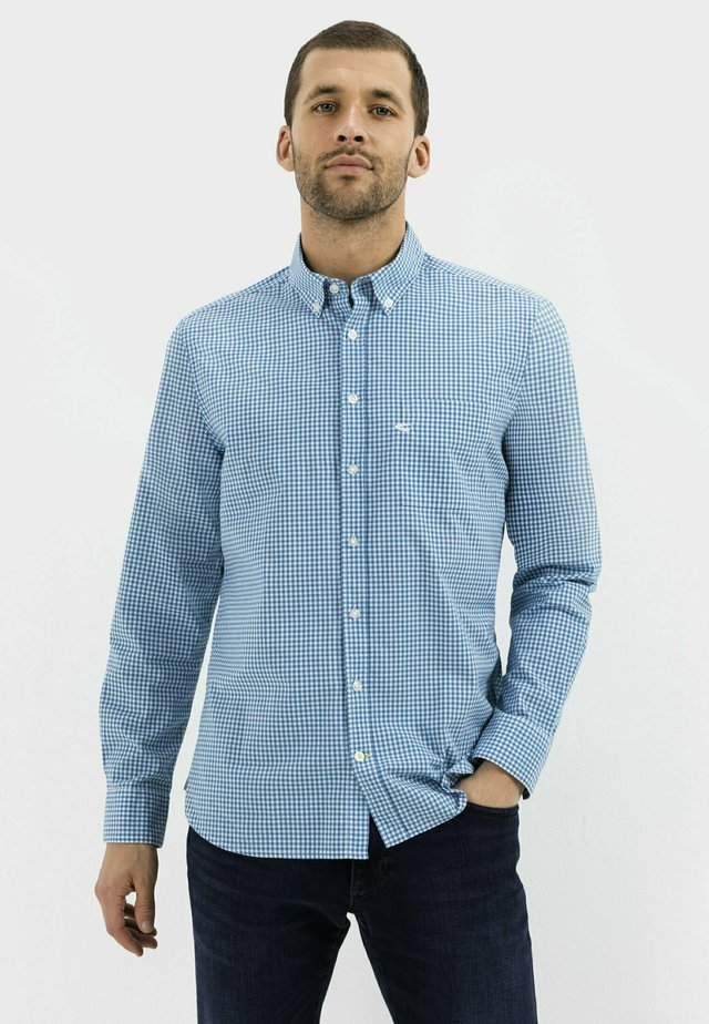 REGULAR FIT MIT LEICHTER STRUKTUR - Shirt - ocean blue