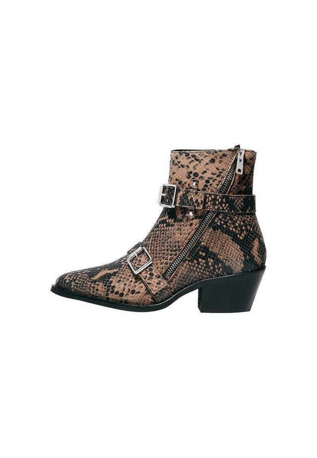 LIOR  - Cowboy/biker ankle boot - taupe