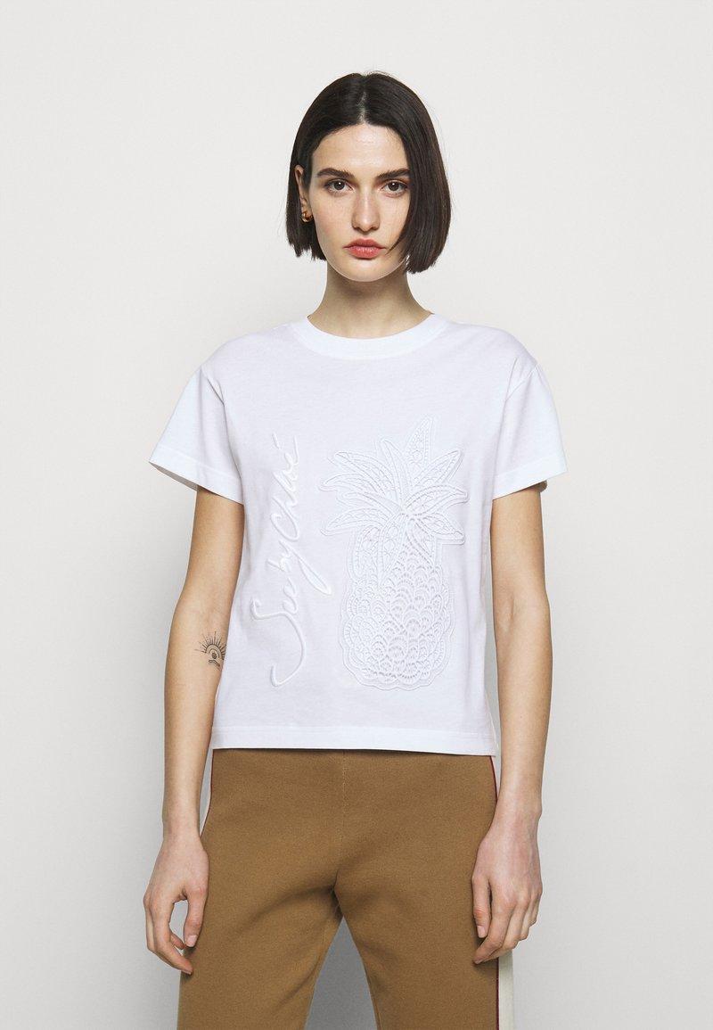 See by Chloé - T-shirt basic - white powder