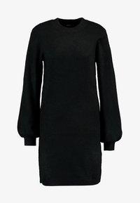 Object - OBJEVE NONSIA - Pletené šaty - black - 5