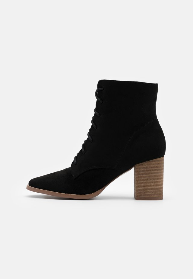 MARCELLE LACE UP - Boots à talons - black