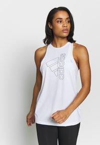 adidas Performance - TECH BOS TANK - Treningsskjorter - white/black - 0