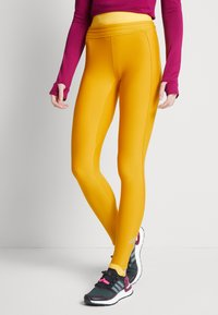 adidas Performance - ASK C.RDY - Tights - dark yellow - 4