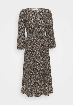 ONLZILLE SMOCK MIDI DRESS - Robe d'été - black