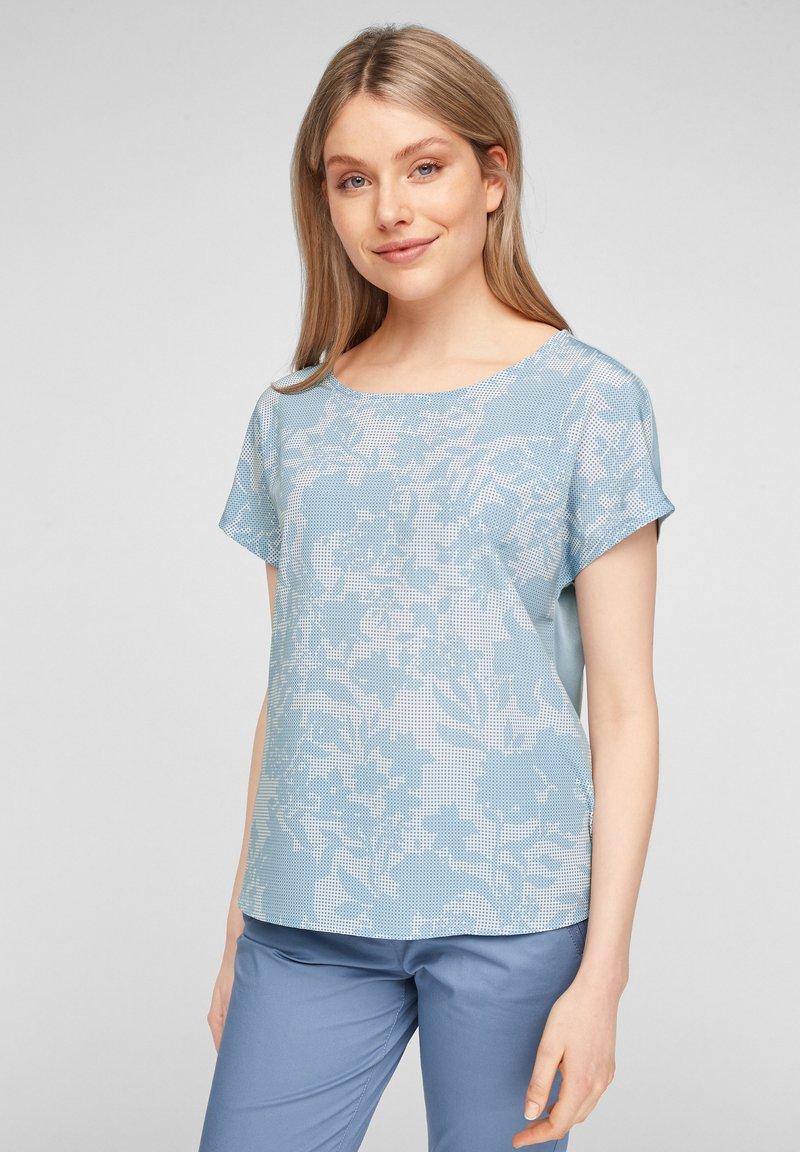 s.Oliver - Print T-shirt - light blue aop