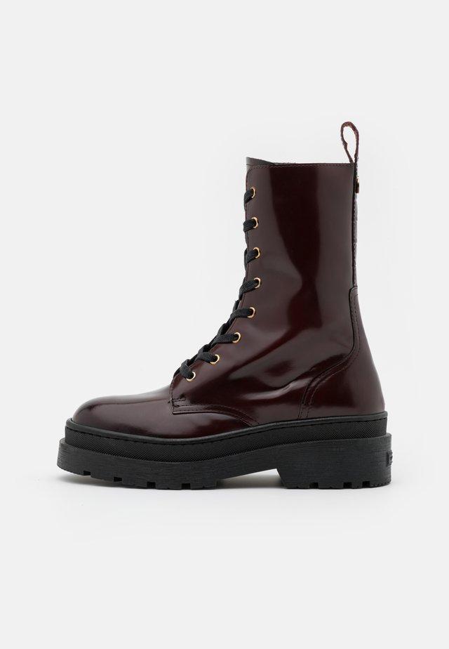AUBRI - Platform ankle boots - bordeaux