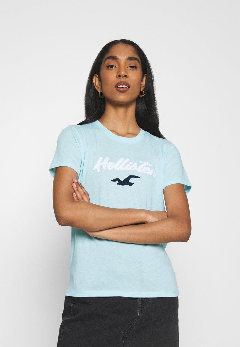 Hollister Co. - TIMELESS - Print T-shirt - light blue