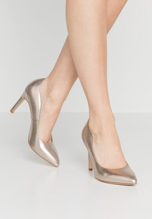 LEATHER HIGH HEELS - Decolleté - champagne