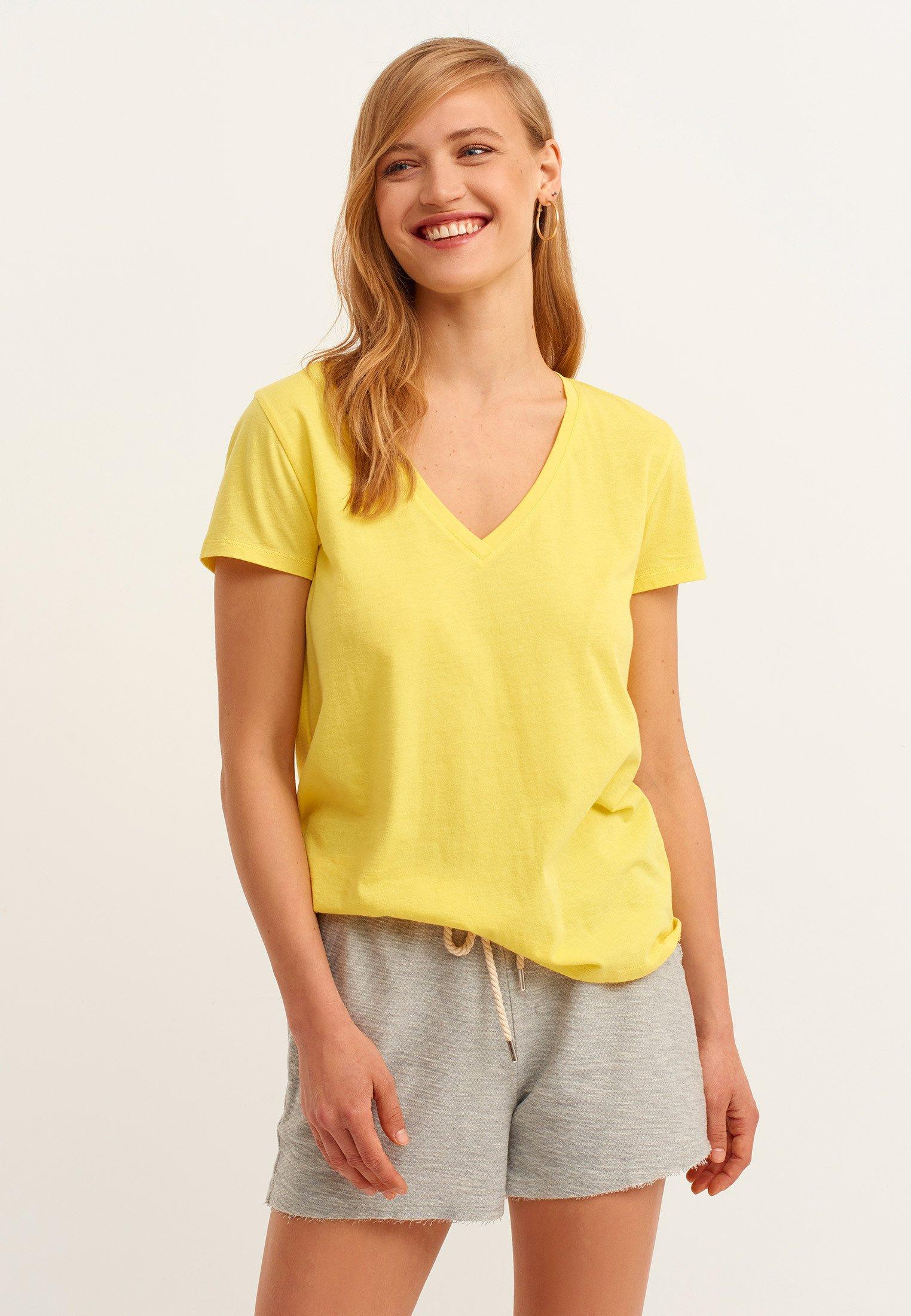 Damen V-AUSSCHNITT - T-Shirt basic