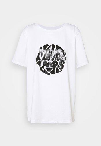 LOGO TEE - Print T-shirt - white