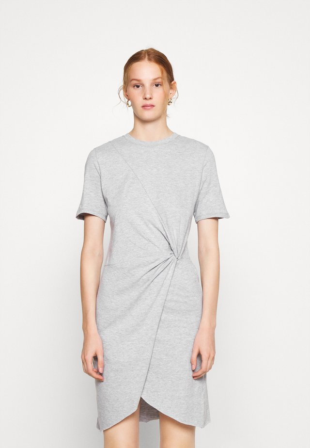 VERONICA - Jersey dress - heather grey