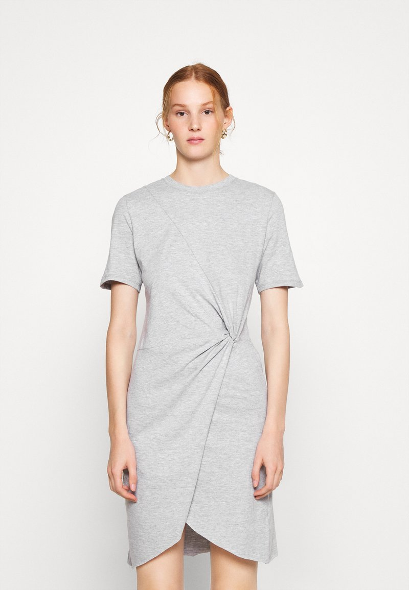 Ética - VERONICA - Jersey dress - heather grey