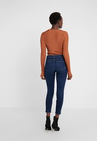 Paige - HOXTON CROP - Jeans Skinny Fit - dark-blue denim - 2