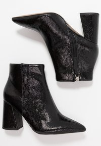 Topshop Wide Fit - WIDE FIT HACKNEY - Ankle boots - black - 3