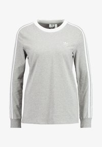adidas Originals - Long sleeved top - medium grey heather/white - 4