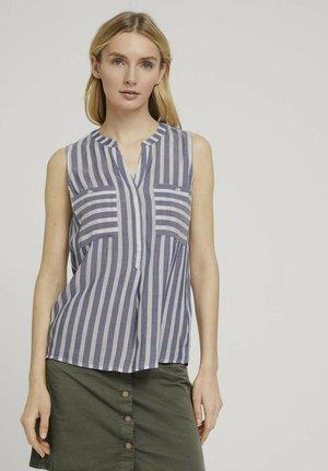 Blouse - offwhite blue stripe
