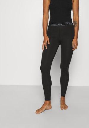 LOGO LEGGING - Pyjamasbukse - black