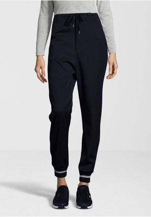 STRIPED CUFFS - Trousers - navy