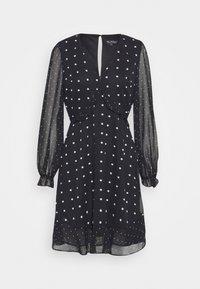 Miss Selfridge - MIXED SPOT DRESS - Day dress - black - 6