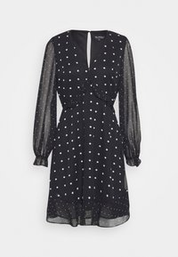 MIXED SPOT DRESS - Day dress - black