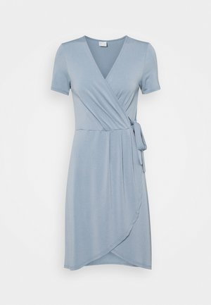 VINAYELI KNEE WRAP DRESS - Jerseyklänning - ashley blue
