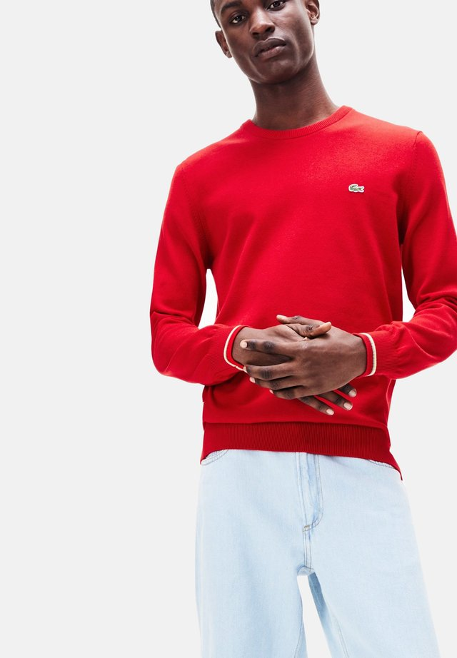 Sweatshirt - rouge / blanc