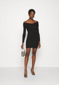 Miss Selfridge - BARDOT MINI DRESS - Shift dress - black - 1
