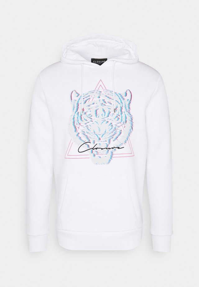 ELECTRIC TIGER HOODY - Collegepaita - white