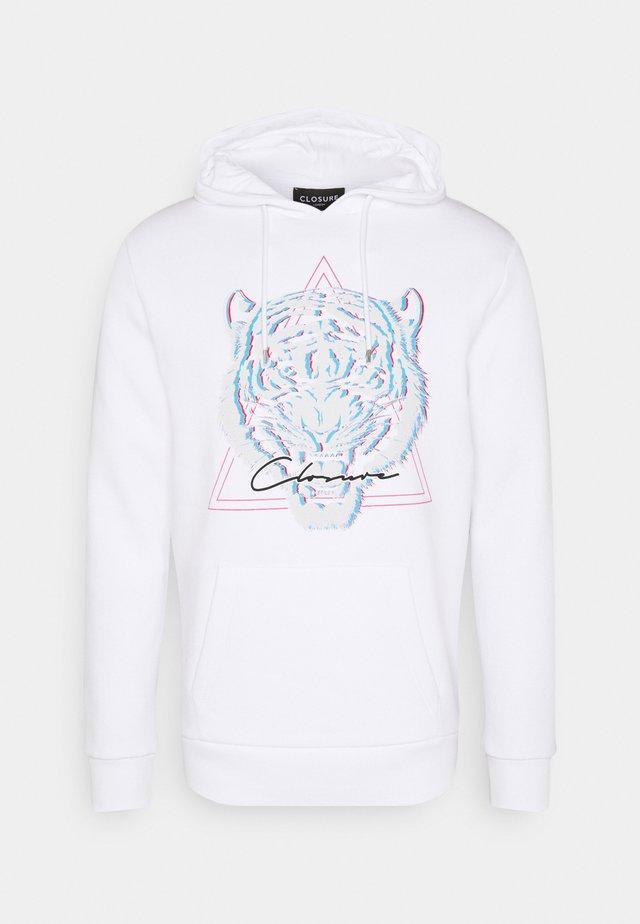 ELECTRIC TIGER HOODY - Sweatshirt - white