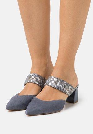 SABOT - Pantofle na podpatku - jeans