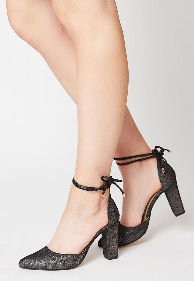 SLINGPUMPS MIT GLITZERPRINT - Zapatos altos - schwarz