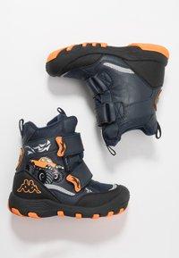 Kappa - BIG WHEEL TEX - Winter boots - navy/orange - 1