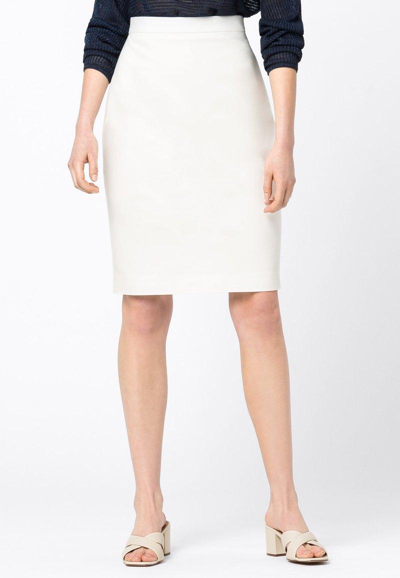 HALLHUBER - Pencil skirt - offwhite