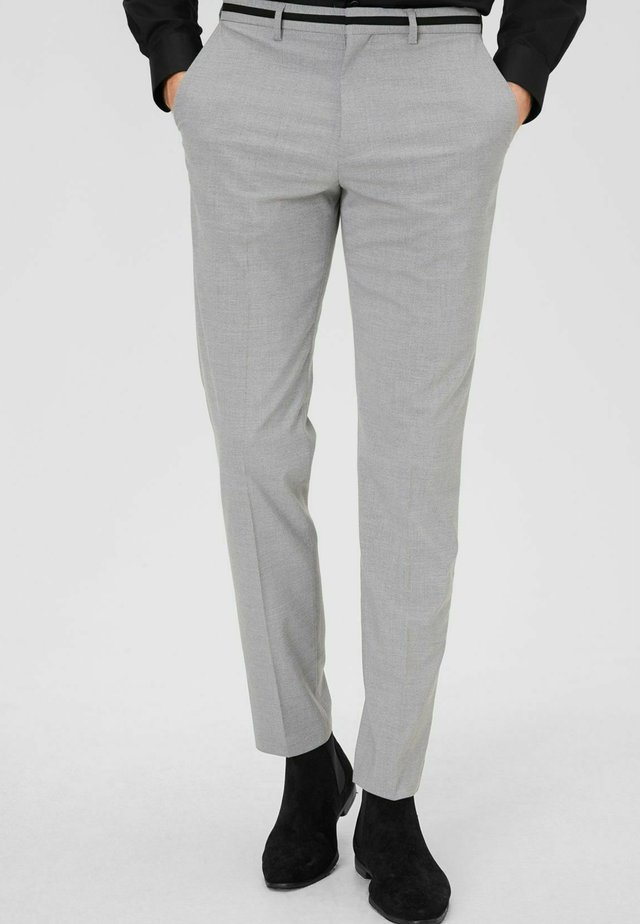 Suit trousers - hellgrau