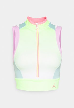 HEATWAVE CROP - Top - ghost green/light arctic pink/light dew