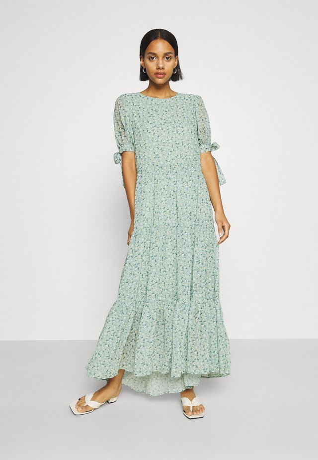 RIVAL FLORAL TIERED DRESS - Maxikjole - green