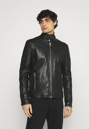 BENNET - Leather jacket - black