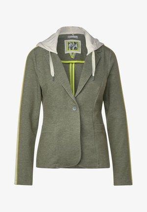 MIT KAPUZE - Blazer - grün