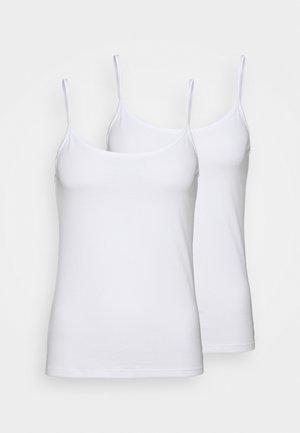 MES ESSENTIELSCARACO 2 PACK - Undershirt - white