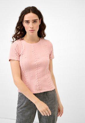 MIT PERLEN - Print T-shirt - peach whip