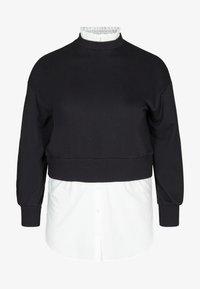 Zizzi - WITH A SEWN-IN - Sweatshirt - black - 1