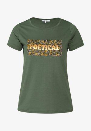 T-shirt con stampa - khaki