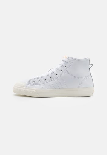 NIZZA UNISEX - High-top trainers - footwear white/chalk white/gold metallic